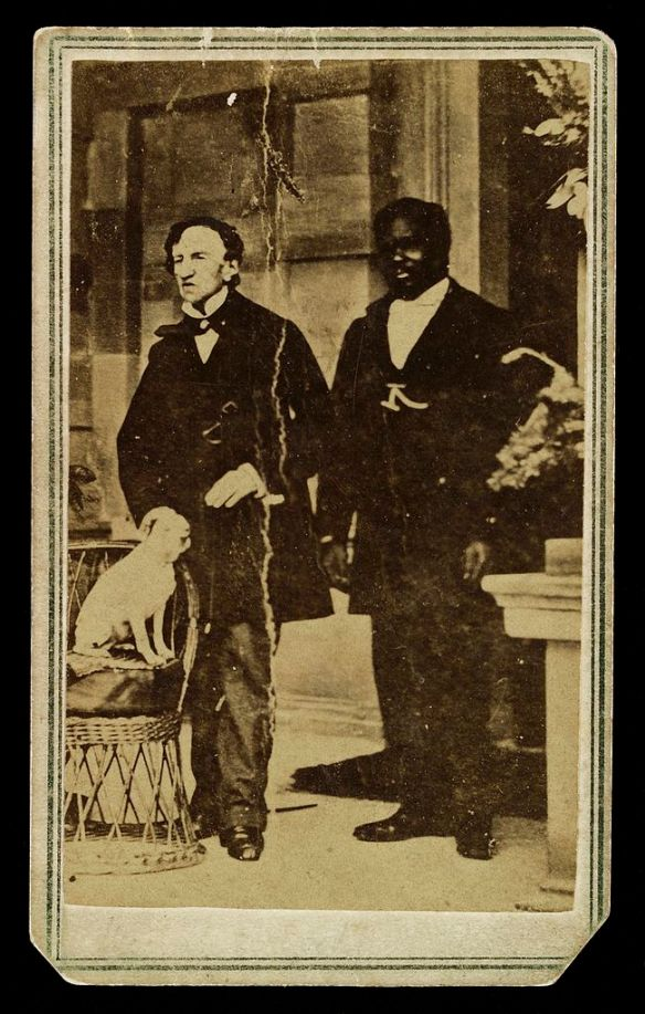 Photograph;_Dr._James_Barry_with_negro_servant_and_dog._Wellcome_L0022267